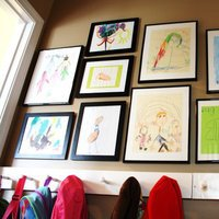 Custom frame kids' art and hang it in the mudroom for everyone to see. Prevent fading and keep the art looking great by selecting only high quality wood frames with UV acrylic.  Begin shopping now and explore our selection of affordable modern picture frame at framed & matted.