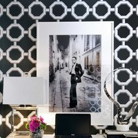 If you were daring enough to choose bold wallpaper, congrats we love that.  Place a white custom frame on the wall to break up the pattern, but keep the focus on the wallpaper.   Get started and explore our selection of affordable white picture frame online.
