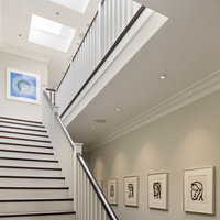In this San Francisco home, the hallway and landing are the perfect place to display great framed art.  Find the perfect artwork frames for your hallway at framed & matted.  Click here for details and see your high-quality modern art frame at framed & matted.